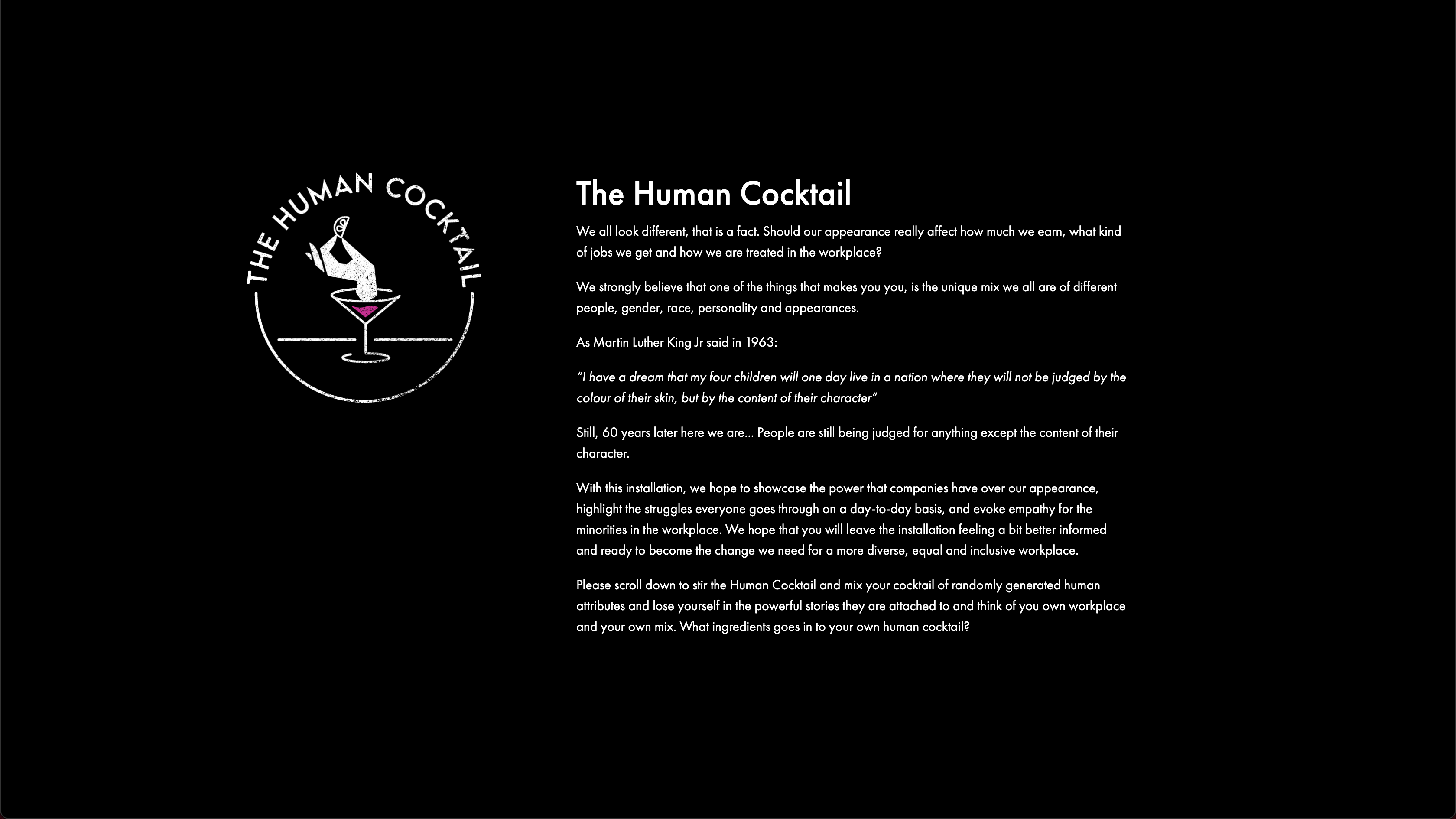 The Human Cocktail